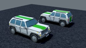 jeep low-poly model