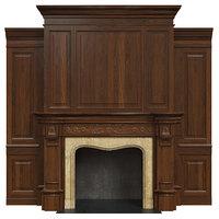 classic fireplace 3D