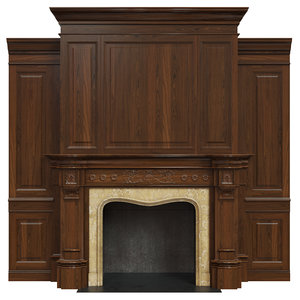 classic fireplace 3D