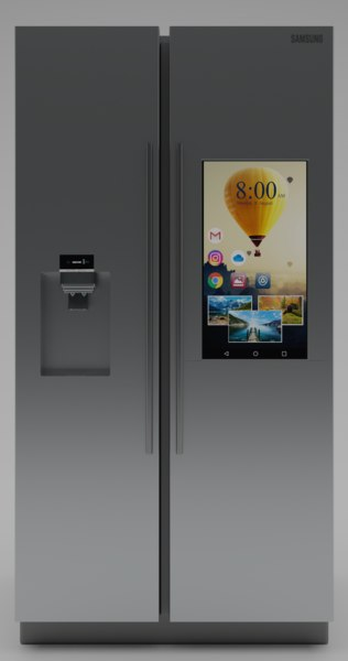 3D fridge display model