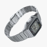casio illuminator b650wd-1a stainless steel 3D model