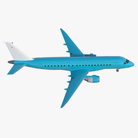 3D model commercial airliner generic