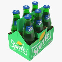 sprite bottle package model