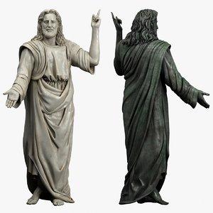3d jesus statue