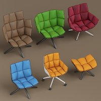 3D b italia husk armchairs