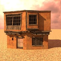 3D model desert house