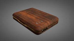 wooden vintage steampunk 3D model