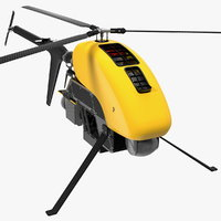 helicopter uav drone copters 3D model