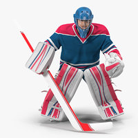 hockey goalkeeper fully equipped 3D model