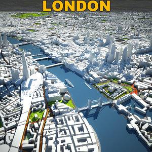 london skyline 3D model