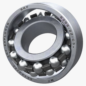 3D model self aligning bearing