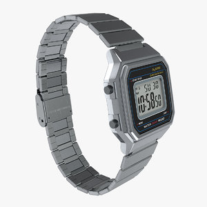 3D stainless steel electronic watch