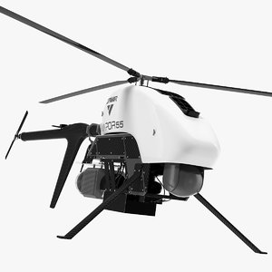 vapor 55 helicopter uav drone model