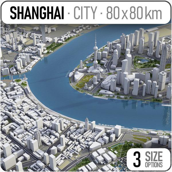 3D model shanghai urban planning
