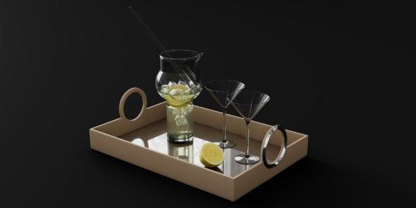 blender trays 3D model