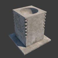3D baptismal font church furniture model