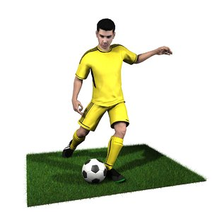 adult male soccer player model