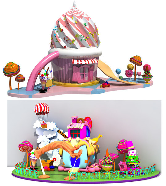 3D candy house model