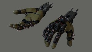 3D hand mechanical model