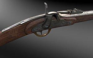 1863 merrill rifle 3D model
