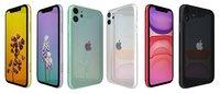 3D apple iphone 11 colors
