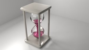 3D model plastic hourglass 6