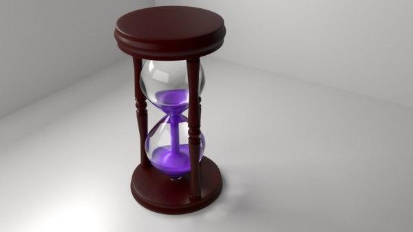 wooden hourglass 7 3D model