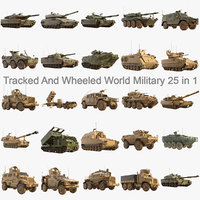 world military army 25 3D model