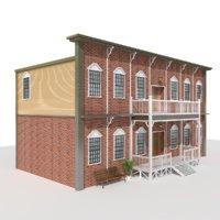 3D villa house building