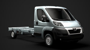 peugeot boxer manager chassis 3D model