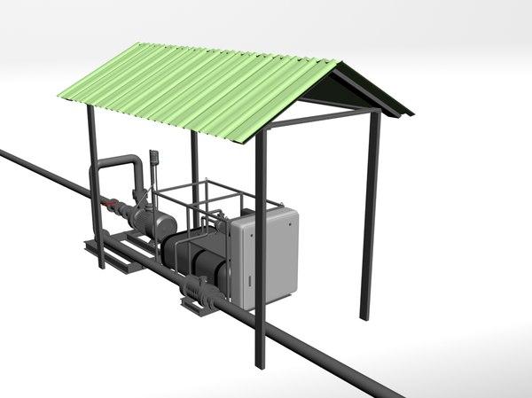 3D station pumping model