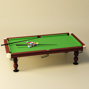 billiard table 3D