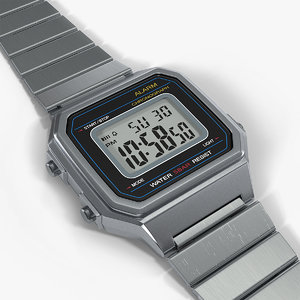 classic electronic watch 3D model