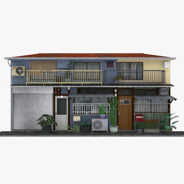 3D model old tokyo townhouse