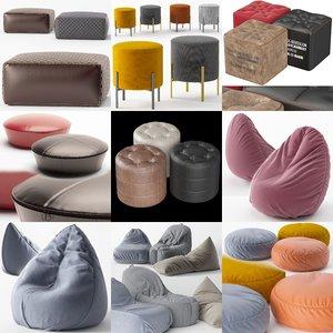 3D set poufs