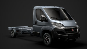 3D fiat ducato chassis truck