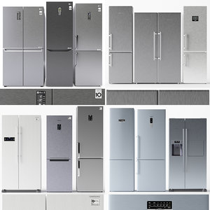 3D set refrigerators model