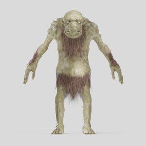 3D norse scandinavian trolls creatures model