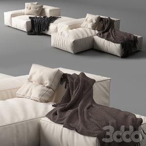 living divani extrasoft - 3D model