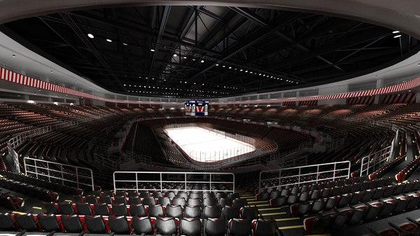 3D joe louis hockey arena model