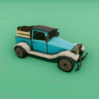 pickup truck carrying barrels model