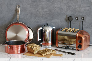 3D dualit toaster kettle set model