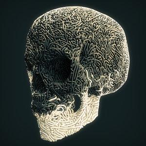 skull threads 3D model