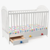 3D newborn baby bed