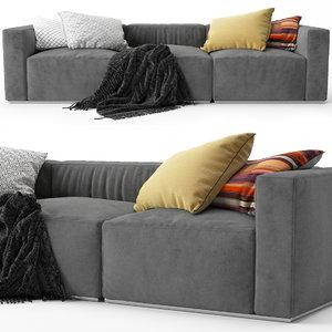 sofa poliform shangai 3D model