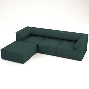 3D sens corner sofa model