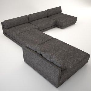 maximus sofa corner 3D model