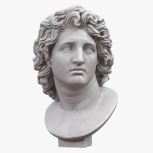 3D alexander great bust