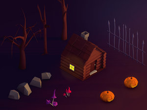 3D cartoon halloween