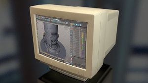 3D pc computer monitor screen